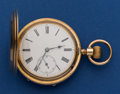 Timepieces:Pocket (post 1900), Swiss 50 mm 14k Gold Hunter's Case Pocket Watch. ...