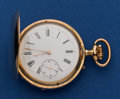 Timepieces:Pocket (post 1900), Swiss 49 mm 14k Gold Hunter's Case Pocket Watch. ...