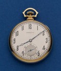 Timepieces:Pocket (post 1900), Hamilton 14k Gold 23 Jewel Grade 922 Pocket Watch. ...