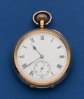 Timepieces:Pocket (post 1900), Waltham 19 Jewel Riverside 9k gold 12 Size Pocket Watch. ...