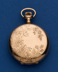 Timepieces:Pocket (post 1900), Regina 6 Size gold Filled Hunter's Case Pocket Watch. ...