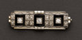 Estate Jewelry:Brooches - Pins, Exquisite Art Deco Diamond & Onyx Pin. ...