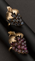 Estate Jewelry:Rings, Pair of Ruby & Sapphire Rings. ...