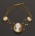 Estate Jewelry:Cameos, High Relief Shell Cameo Necklace. ...
