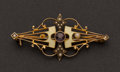 Estate Jewelry:Brooches - Pins, Enamel & Gold Pin. ...