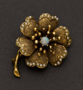 Estate Jewelry:Brooches - Pins, Opal, Gold & Pearl Pin. ...
