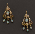 Estate Jewelry:Earrings, Opal, Pearl & Gold Earrings. ...