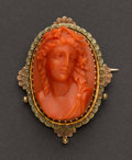Estate Jewelry:Cameos, Very Fine High Relief Coral Cameo. ...