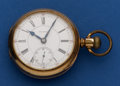 Timepieces:Pocket (post 1900), Waltham 21 Jewel Model 92 Crescent Street Pocket Watch. ...