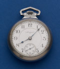 Timepieces:Pocket (post 1900), Elgin 18 Size 21 Jewel Father Time Full Plate Pocket Watch. ...
