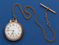 Timepieces:Pocket (post 1900), Hamilton 992 Pocket Watch With Chain. ...