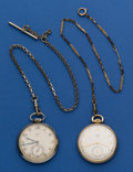 Timepieces:Pocket (post 1900), Two Elgin 12 Size Pocket Watches With Chains Runners. ... (Total: 2Items)