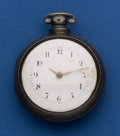 Timepieces:Pocket (pre 1900) , Johnston Liverpool Verge Fusee Silver Pair Case Pocket Watch. ...