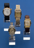 Timepieces:Wristwatch, Four - Vintage Wristwatches. ... (Total: 4 Items)