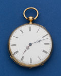 Timepieces:Pocket (post 1900), Swiss 47 mm 18k Key Wind Pocket Watch. ...