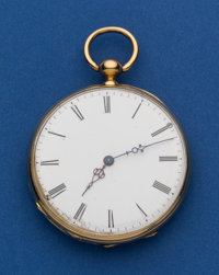 Swiss 47 mm 18k Key Wind Pocket Watch