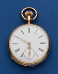 Timepieces:Pocket (post 1900), Swiss 48 mm 18k Gold Pocket Watch. ...