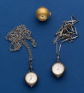 Timepieces:Other , Three - Bucherer Ball Shape Watches. ... (Total: 3 Items)