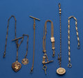 Timepieces:Watch Chains & Fobs, Five - Interesting Watch Chains. ... (Total: 5 Items)