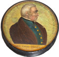 Political:3D & Other Display (pre-1896), Zachary Taylor: A Colorful Papier - Mâché Portrait Snuff Box....