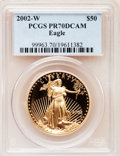Modern Bullion Coins, 2002-W G$50 One-Ounce Gold Eagle PR70 Deep Cameo PCGS. PCGSPopulation (129). NGC Census: (568). Numismedia Wsl. Price for...
