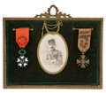 Decorative Arts, British:Other , MALCOLM S. FORBES COLLECTION: COLLECTION OF VARIOUS MILITARY ANDCIVIC MEDALLIONS AND AWARDS, MOST CIRCA 1900 . 8-1/2 x 11-...(Total: 6 Items Items)