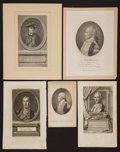 Antiques:Posters & Prints, George Washington: Five 18th Century Engravings.... (Total: 5Items)
