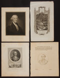 Antiques:Posters & Prints, George Washington: Four 18th Century Engravings.... (Total: 3Items)