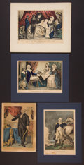Antiques:Posters & Prints, George Washington: Four Hand-Colored Lithographs.... (Total: 4Items)