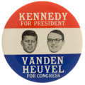 Political:Pinback Buttons (1896-present), John F. Kennedy: Scarce Coat-tail....