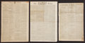Miscellaneous:Newspaper, George Washington: Three British Newspapers.... (Total: 3 Items)