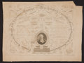Antiques:Posters & Prints, George Washington: 1817 Calligraphic Engraving....