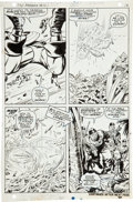 Original Comic Art:Panel Pages, Jack Kirby and Syd Shores Captain America #101 Inflato-Suitpage 9 Original Art (Marvel, 1968)....