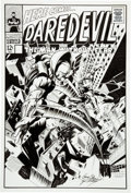 Original Comic Art:Covers, Gene Colan and Dave Gutierrez Daredevil vs. Stilt-Man Fantasy CoverOriginal Art (undated)....