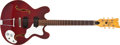 Musical Instruments:Electric Guitars, 1972-74 Mosrite Celebrity Red Semi-Hollow Electric Guitar#K-0994....