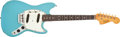 Musical Instruments:Electric Guitars, 1966 Fender Duo-Sonic II Daphne Blue Electric Guitar #132131....