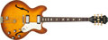 Musical Instruments:Electric Guitars, 1965 Epiphone Riviera Sunburst Hollow Body Electric Guitar#300325....