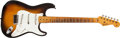 Musical Instruments:Electric Guitars, 1954 Fender Stratocaster Sunburst Electric Guitar #0330....