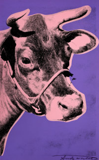 ANDY WARHOL (American, 1928-1987) Cow, 1976 Screenprint mounted on foam board 45 x 28 inches (114