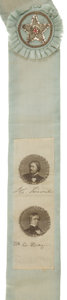 Political:Ribbons & Badges, John C. Fremont: Jugate Ribbon Parade Sash....