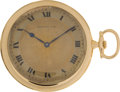 General Historic Events, Lusitania Survivor Gold Tiffany Pocket Watch....