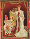 Advertising:Signs, Coca Cola: Advertising Sign Picturing Lillian Nordica 1904....