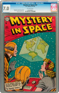 Golden Age (1938-1955):Science Fiction, Mystery in Space #22 (DC, 1954) CGC FN/VF 7.0 Off-white pages....