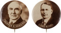 Political:Pinback Buttons (1896-present), Warren G. Harding and James M. Cox: Matched Pair.... (Total: 2Items)
