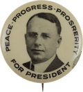 Political:Pinback Buttons (1896-present), James M. Cox: Desirable Picture Button....