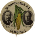 Political:Pinback Buttons (1896-present), William Howard Taft: Bloomington Ear of Corn Jugate....