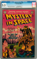 Golden Age (1938-1955):Science Fiction, Mystery in Space #6 (DC, 1952) CGC FN- 5.5 Light tan to off-whitepages....