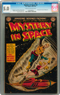 Golden Age (1938-1955):Science Fiction, Mystery in Space #5 (DC, 1952) CGC VG/FN 5.0 Cream to off-whitepages....