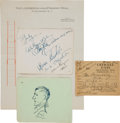 Miscellaneous:Ephemera, Charles A. Lindbergh Baby Kidnapping: The Hauptman Trial....(Total: 4 Items)