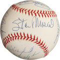 Autographs:Baseballs, 3000 Hit Members Multi Signed Baseball. ...